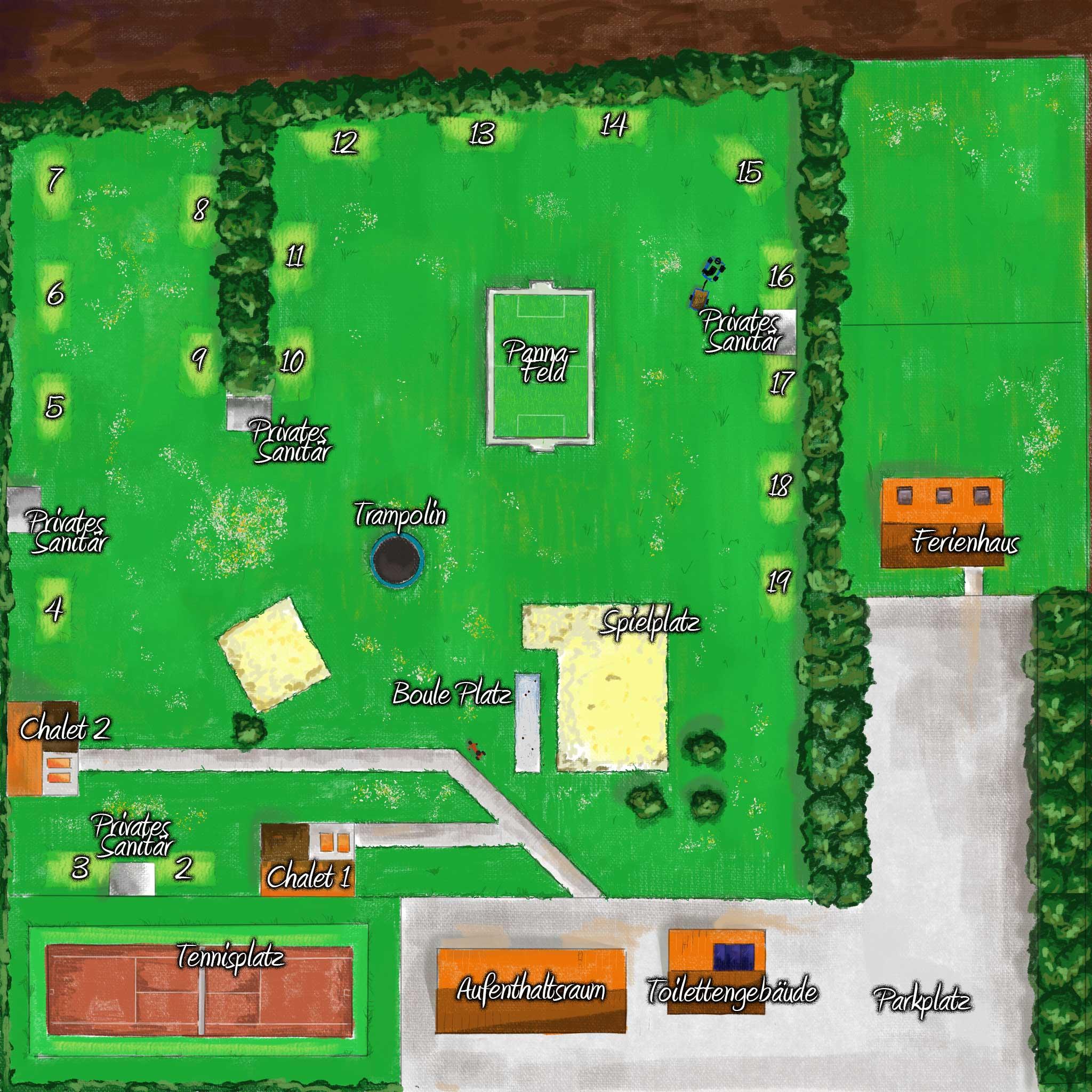 Übersichtskarte Campingplatz